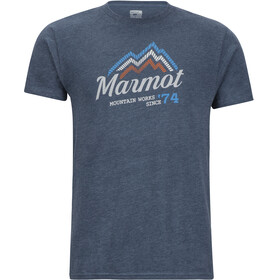 Marmot Beams SS Tee Men Navy Heather